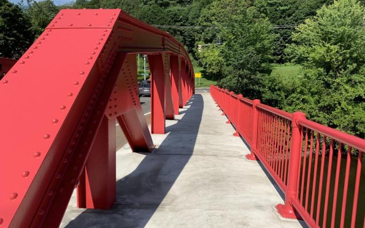 rose bridge walkway