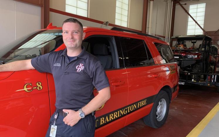 Lt. Justin Bona and Car c-8