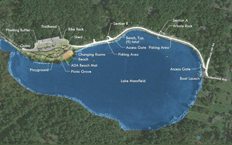 Lake Mansfield design map